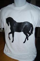 """Tee-shirt imprimé """"cheval noir"""""""