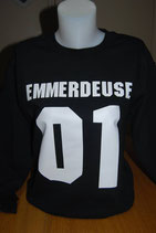 "Sweat shirt humoristique imprimé ""emmerdeuse 01"""