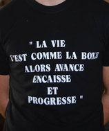"""Tee-shirt homme imprimé """"la vie est comme la boxe"""""""
