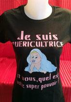 "Tee-shirt femme imprimé ""je suis puéricultrice..."""