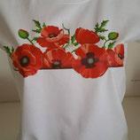 """Tee-shirt femme imprimé """"coquelicots'"""