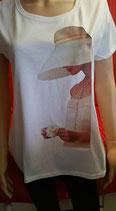 """Tee-shirt femme imprimé """"Romantisme"""""""