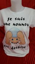 """Tee-shirt imprimé 'Je suis une nounou qui déchire !"""""""