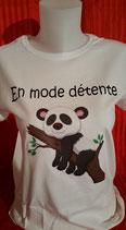 """Tee-shirt femme humoristique imprimé """"en mode détente"""""""