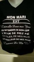 """Tee-shirt femme imprimé """"déclaration'"""