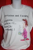 Tee shirt humour pour femme