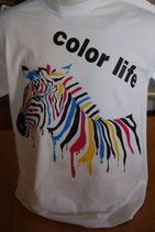 "Tee-shirt homme imprimé ""color life'"