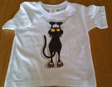 TEE-SHIRT MANCHES COURTES IMPRIME CHAT