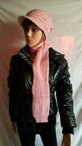 Bonnet casquette + écharpe