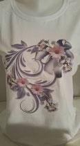 """Tee-shirt femme imprimé """"fleurs"""""""