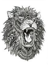 Löwe Henna Style