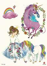 Set Einhörner mit Prinzessin