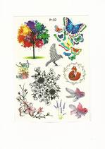 Set Baum Vogel Blumen