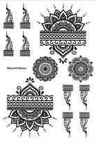 Henna Set Rosette
