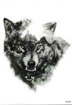 Wolf fein gezeichnet