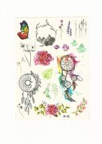 Set Traumfänger Blumen