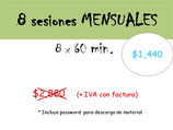 COMPRAR 8 SESIONES ONE-ON-ONE