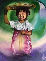 Petite vendeuse birmane