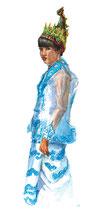 Femme en habits de cérémonie