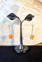 """Boucles d'Oreilles """"Petit Grain de Folie Orange"""""""