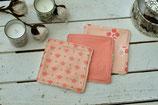 Cara ~*~ 3 Stück waschbare Kosmetikpads / groß / Abschminkpads ~ apricot & rot