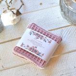 Cara ~*~ waschbare Kosmetikpads / klein / Abschminkpads ~ altrosa & rosa