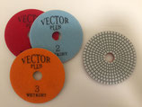 "4"" 3 Step Hybrid Polishing Pads (can be used dry on granite/wet on engineered)"