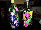 Botellas Pintadas en Acrilico