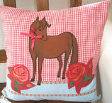 Patchwork Pferd mit Rosen