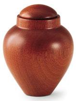 Handgedrechselte Urnen Mahagoni oder Erle Dunkel