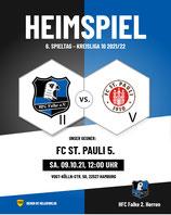 Nachholspiel: Verkauf startet bald HFC Falke II - FC St. Pauli V (VKS Kura II)