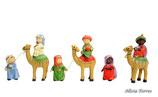 Reyes Magos en camello y pajes de Naif (Ref. 2719)