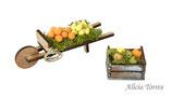 Carretilla y cesta con frutas (Ref. 5652)