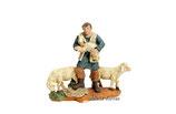 Pastor con tres ovejas de 8 cm (Ref. 2420)