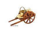 Carro con cestas de mimbre (Ref. 3647)