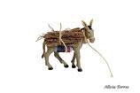 Burro con carga llevando leña (Ref. 2611)
