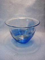 GL-B-0610-300  Kunstglasschale, Blau/Weiß