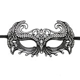 MASCARA METALICA METAL MASK LACE NEGRO
