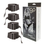KIT 4 PIEZAS GP WRIST AND ANKLE RESTRAINT SET NEGRO