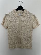 OSCAR DE LA RENTA shirt, wool with pailletten, Size S