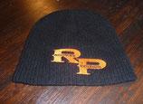 Strickmütze schwarz, oranges RP-Logo