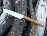 Couteau d'office – Micarta toile de jute moutarde (3 rivets molletonnés – finition arrondie)