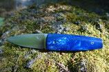 Sgian Dubh pliant - JUMA® SERPENT bleu