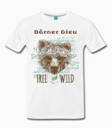 "T-Shirt ""Bär"" - Free and Wild"