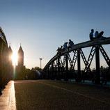 Fotoklotz Blaue Brücke