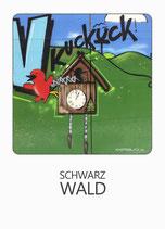 Postkarte SW Polaroid Kuckcuk