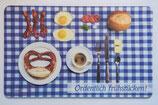 Brettchen  Ordentlich frühstücken! blau