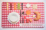 Brettchen  Ordentlich frühstücken! rot
