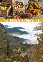 Postkarte SW 2Drittel gelb