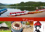 Postkarte Titisee Streifen rot